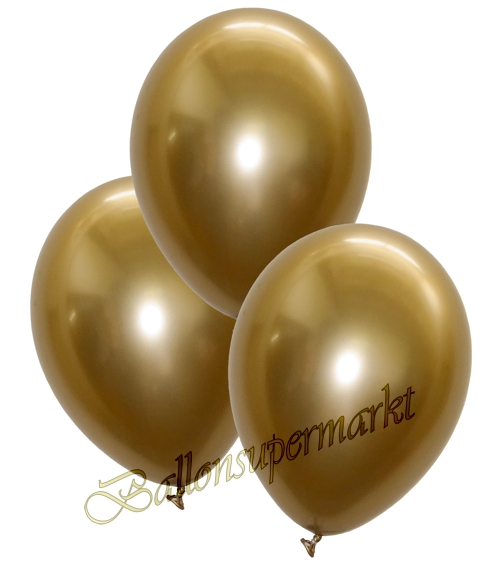 Luftballons-Chrome-gold-Ballondekoration-Chromglanz