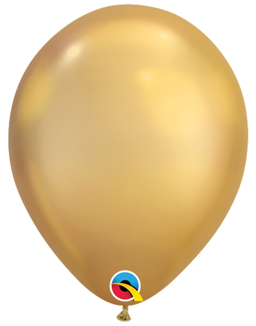 Luftballons-Chrome-gold-Premium-Qualatex-Ballondekoration-Chromglanz