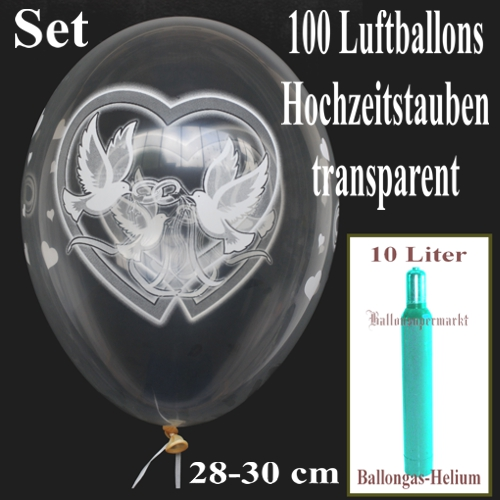 ballonsupermarkt maxi set hochzeit 100. Black Bedroom Furniture Sets. Home Design Ideas