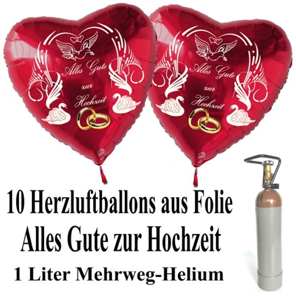 mini ballons helium set 10 herzballons aus folie alles. Black Bedroom Furniture Sets. Home Design Ideas