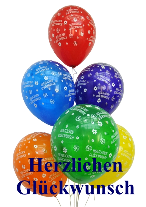 geburtstags mini set 3 8 ballons herzlichen gl ckwunsch 8 zahlenballons 1 liter helium. Black Bedroom Furniture Sets. Home Design Ideas