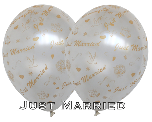 Just Married: Luftballons Hochzeit