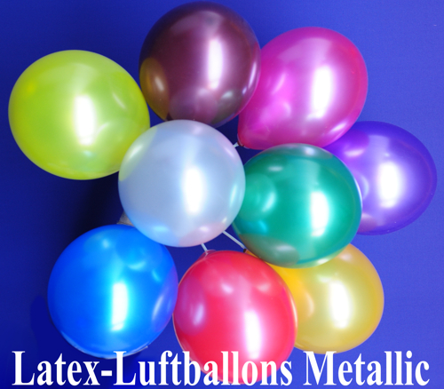 Luftballons Latex Metallic, Ballons aus Latex in Metallikfarben