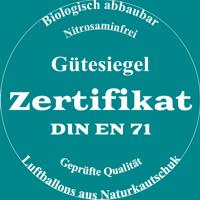 Luftballons mit Zertifikat, biologisch abbaubar, nitosaminfrei, Naturkautschuklatex