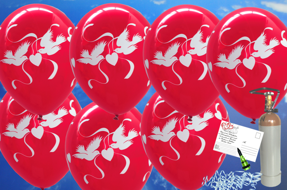 midi set luftballons zur hochzeit steigen lassen 50 hochzeitsluftballons in rubinrot. Black Bedroom Furniture Sets. Home Design Ideas