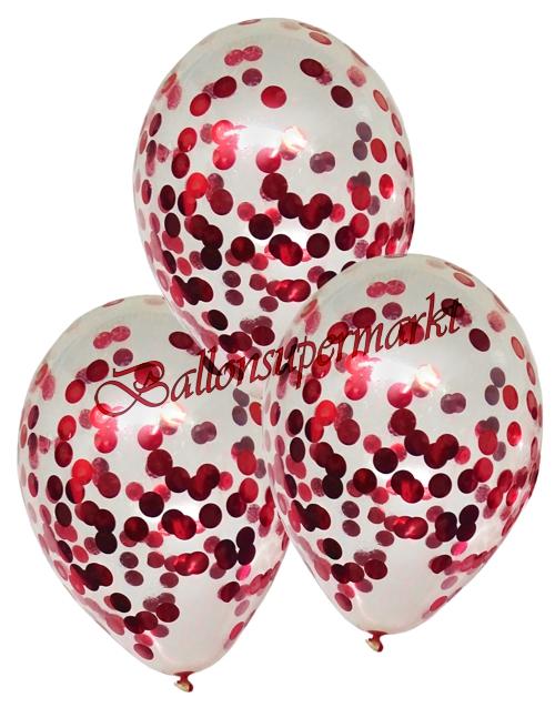 ballonsupermarkt konfetti ballons latex 25 cm 3 st ck transparent gef llt. Black Bedroom Furniture Sets. Home Design Ideas