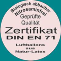 Luftballons aus Latex mit Zertifikat, geprüfte Qualität