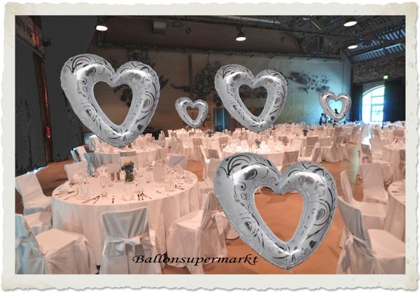 Luftballons-zur-Hochzeit-Herzen-mit-Helium-Dekoration-zur-Hochzeitsfeier