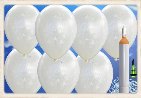 sets mit runden luftballons aus latex und helium zur hochzeit ballonsupermarkt. Black Bedroom Furniture Sets. Home Design Ideas
