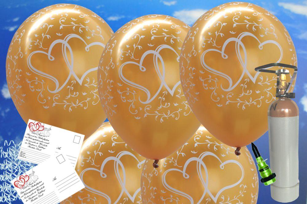 midi set luftballons zur hochzeit steigen lassen 25 hochzeitsluftballons in gold verliebte. Black Bedroom Furniture Sets. Home Design Ideas