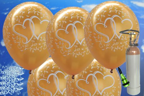ballonsupermarkt midi set 2 50er ballons helium sets midi ballons. Black Bedroom Furniture Sets. Home Design Ideas