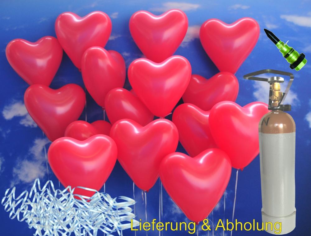 midi set 2 1 50 rote herzluftballons mit helium inkl abholung midi set 2 50er ballons. Black Bedroom Furniture Sets. Home Design Ideas