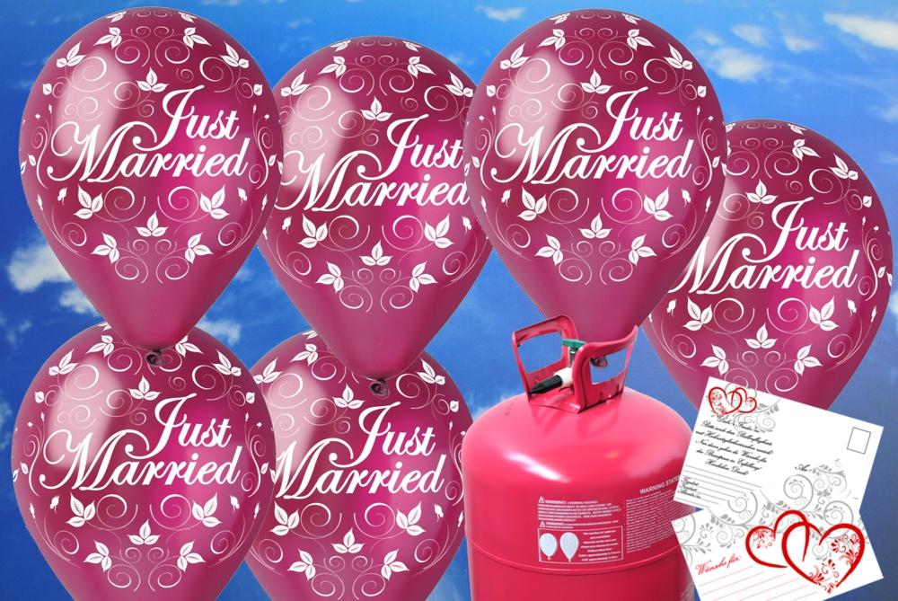 luftballons zur hochzeit steigen lassen helium einwegbeh lter mit 30 luftballons in burgund. Black Bedroom Furniture Sets. Home Design Ideas