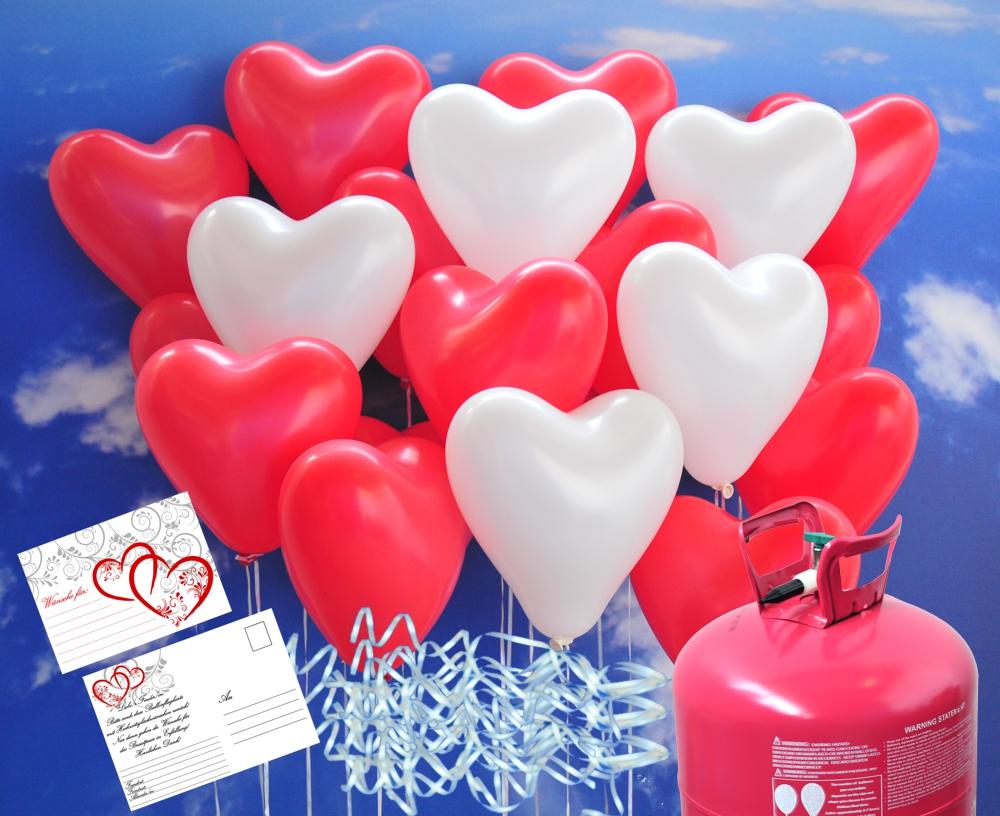 luftballons zur hochzeit steigen lassen helium einwegbeh lter mit 150 herzballons hochzeit rot. Black Bedroom Furniture Sets. Home Design Ideas
