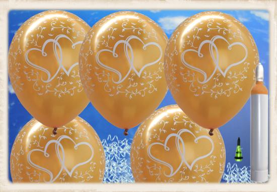 ballonsupermarkt ballons helium set maxi 100 goldene luftballons mit. Black Bedroom Furniture Sets. Home Design Ideas