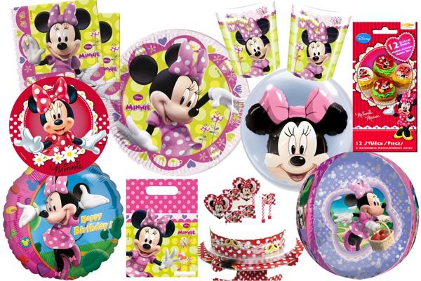 minnie mouse kindergeburtstag party sets mit luftballons kindergeburtstag geburtstag. Black Bedroom Furniture Sets. Home Design Ideas