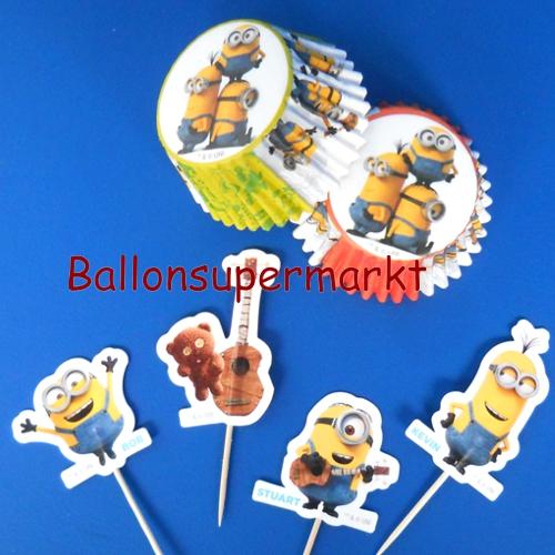 Ballonsupermarkt muffindeko set minions - Dekoration muffins ...