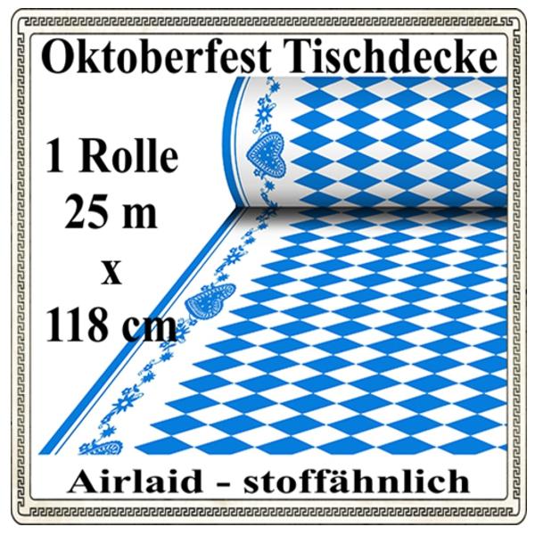 ballonsupermarkt oktoberfest tischdecke 25 meter x 118 cm stoff hnlich 1. Black Bedroom Furniture Sets. Home Design Ideas