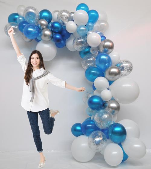 selbstgemachte wilde Luftballongirlande gekauft im Ballonsupermarkt-Onlineshop
