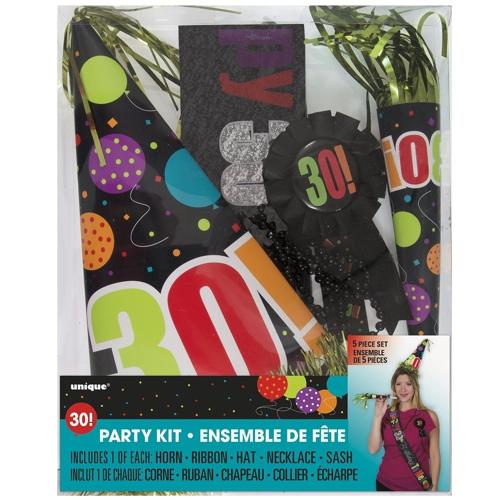 party kit zum 30 geburtstag geburtstag 30 dekoration geburtstag 30 besondere. Black Bedroom Furniture Sets. Home Design Ideas