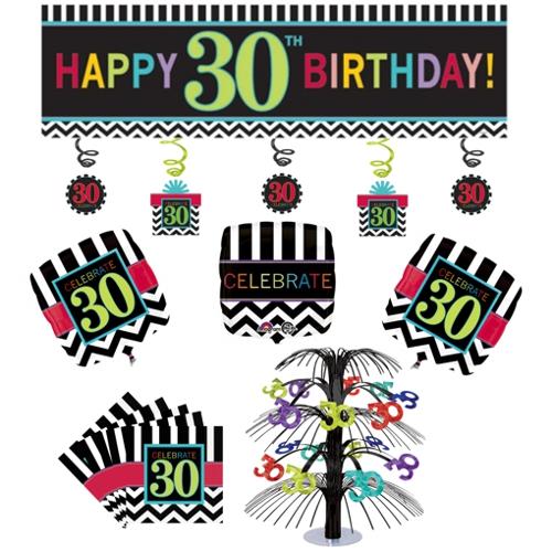 ballonsupermarkt geburtstagsdekorations set zum 30 geburtstag celebrate. Black Bedroom Furniture Sets. Home Design Ideas