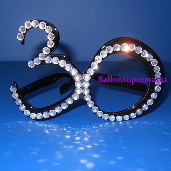 party brille mit glitzersteinen zahl 30 zum 30 geburtstag geburtstag 30 dekoration. Black Bedroom Furniture Sets. Home Design Ideas