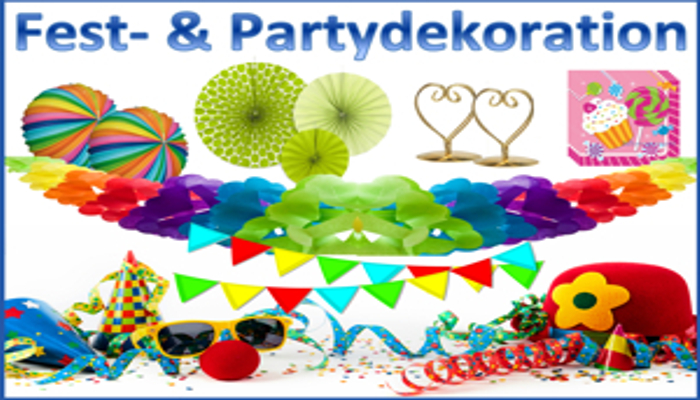Partydeko Festdekoration