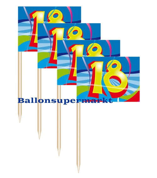 Ballonsupermarkt party picker zahl 18 for Dekoration zum 18 geburtstag