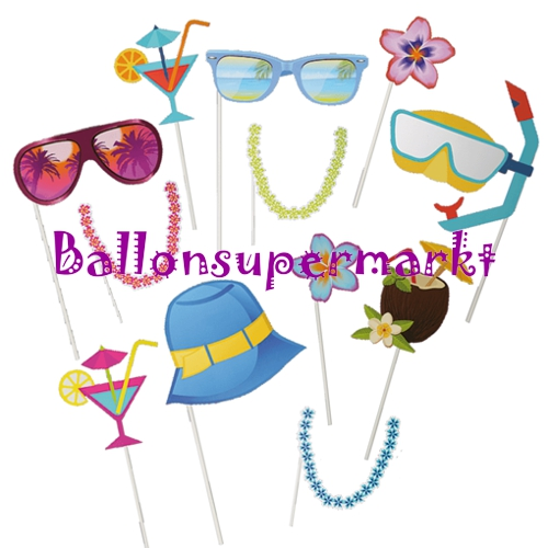 Photoprops-Beach-Partydekoration-Fotorequisiten-Bilder-Fotospass-Hochzeit-Geburtstag-Hawaiiparty