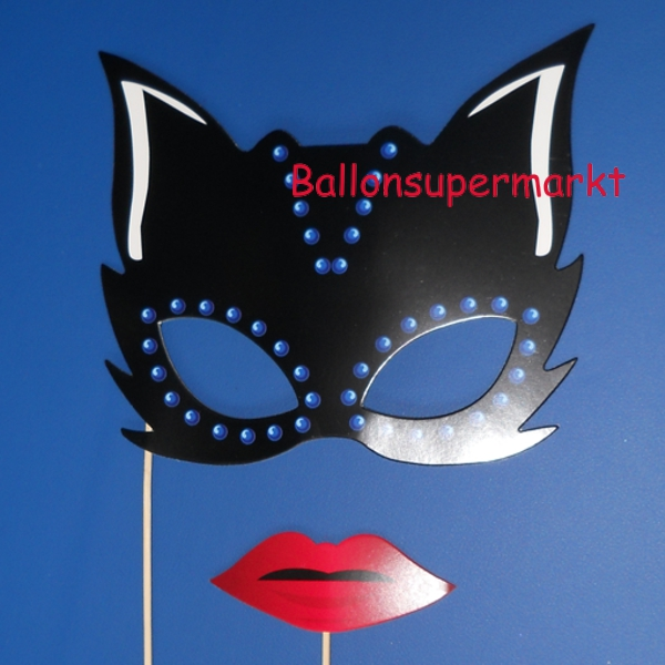 Photoprops-Catwoman-Partydekoration-Fotos-Bilder-Fotospass-Requisiten-Halloween-Fest