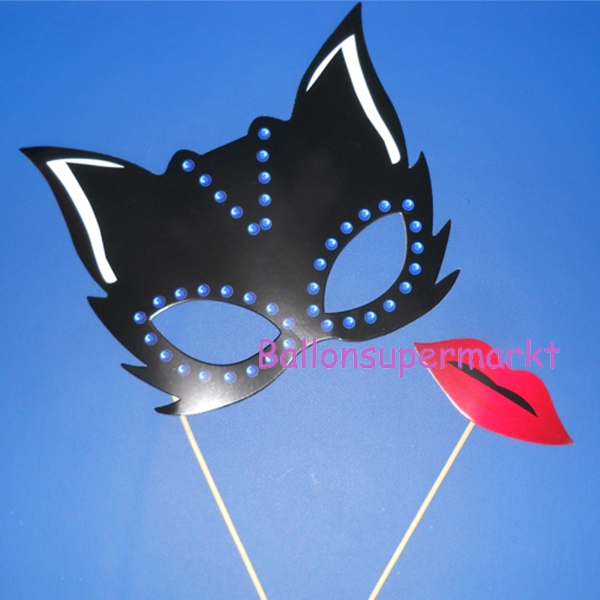 Photoprops-Catwoman-Partydekoration-Fotos-Bilder-Fotospass-Requisiten-Halloween