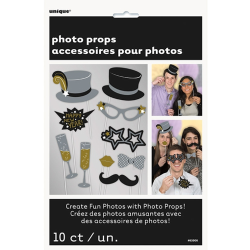 Photoprops-Silvester-Partydekoration-Neujahr-Fotos-Bilder-Fotospass-Requisiten