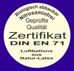 Premium-Luftballons-Zertifikat
