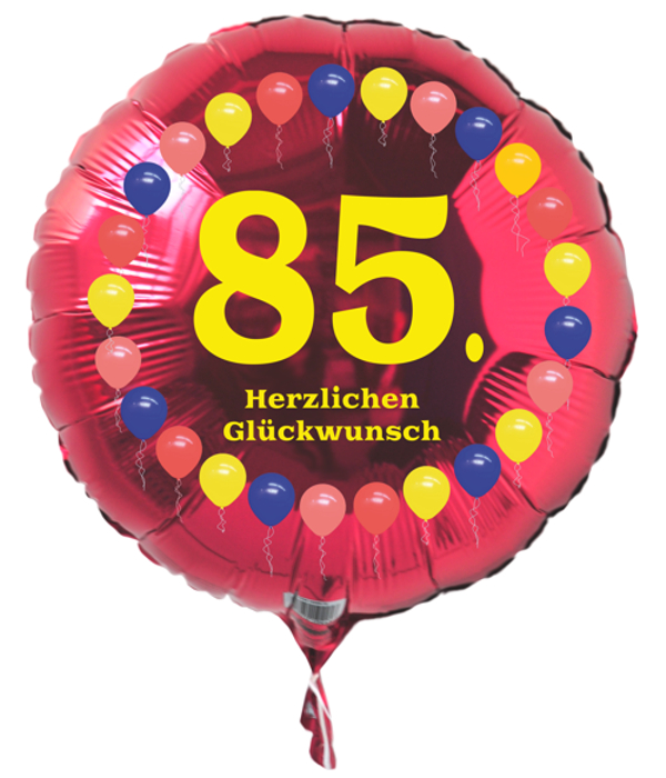 luftballon 85 geburtstag ballonsupermarkt. Black Bedroom Furniture Sets. Home Design Ideas