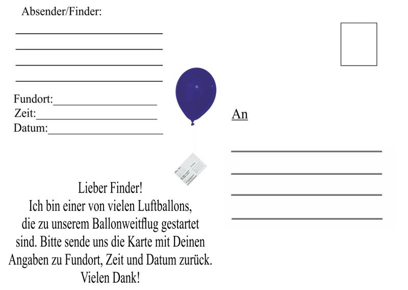 ballonflugwettbewerb karten 03 postkarten f r luftballons 50 st ck ballonflug wettbewerb. Black Bedroom Furniture Sets. Home Design Ideas