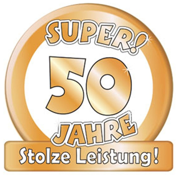 ballonsupermarkt riesen dekoschild super 50 jahre stolze leistung goldene. Black Bedroom Furniture Sets. Home Design Ideas
