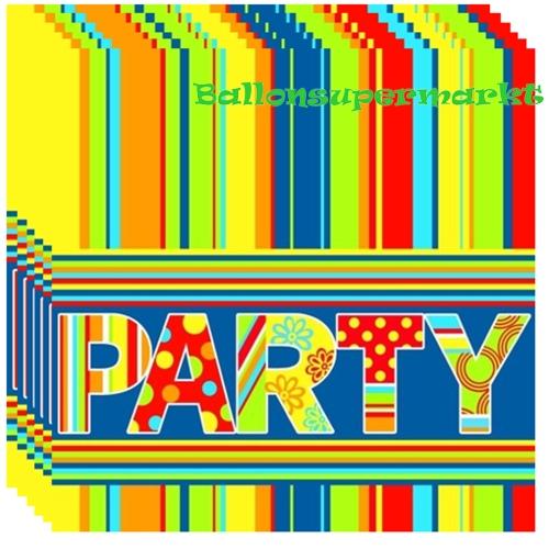 Ballonsupermarkt servietten party 20 for Dekoration karneval