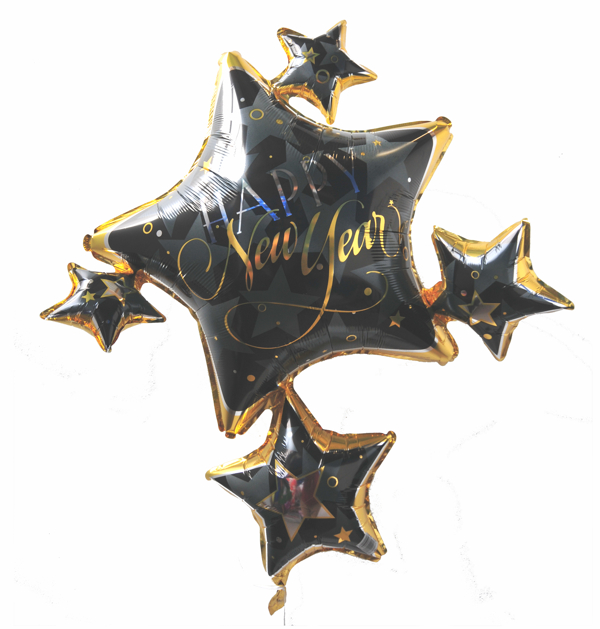Silvester-Cluster-Luftballon-aus-Folie-Happy-New-Year