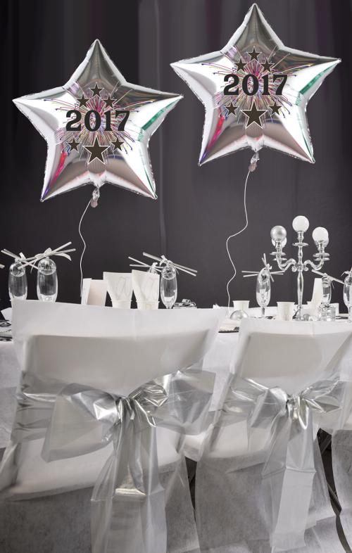 ballonsupermarkt silvester dekoration 20 luftballons silberne sterne 2017. Black Bedroom Furniture Sets. Home Design Ideas