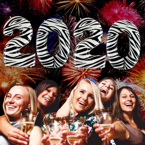 Große Zahlen Luftballons Silvester Dekoration 2020 Zebra