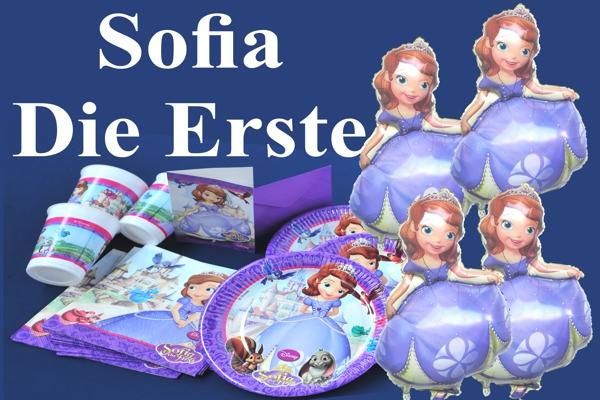 sofia die erste kindergeburtstag party sets mit luftballons kindergeburtstag geburtstag. Black Bedroom Furniture Sets. Home Design Ideas