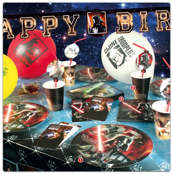 ballonsupermarkt star wars kindergeburtstag party sets mit luftballons. Black Bedroom Furniture Sets. Home Design Ideas