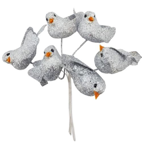 Taubenpaare auf draht silber glitzer silberne hochzeit tischdeko 3 st ck silberne hochzeit - Tischdekoration silberhochzeit bilder ...