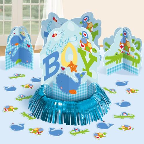 ballonsupermarkt tischdekorations set zur geburt babyparty junge babyparty. Black Bedroom Furniture Sets. Home Design Ideas