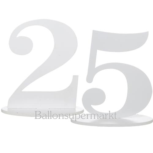 Ballonsupermarkt tischaufsteller zahl 25 - Tischdekoration silberhochzeit bilder ...