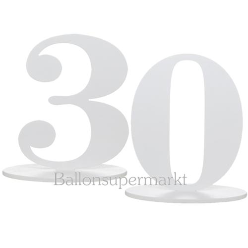 ballonsupermarkt tischaufsteller zahl 30 tischdekoration zum 30 geburtstag und. Black Bedroom Furniture Sets. Home Design Ideas