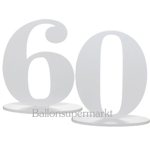 ballonsupermarkt tischaufsteller zahl 60. Black Bedroom Furniture Sets. Home Design Ideas