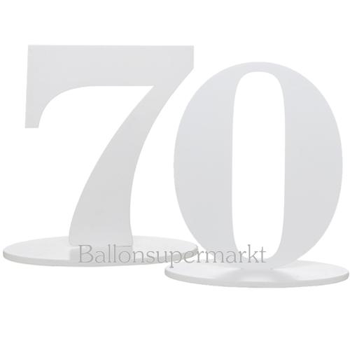 ballonsupermarkt tischaufsteller zahl 70. Black Bedroom Furniture Sets. Home Design Ideas