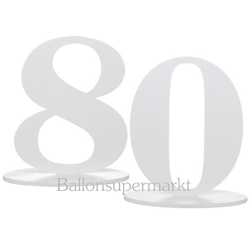 ballonsupermarkt tischaufsteller zahl 80. Black Bedroom Furniture Sets. Home Design Ideas