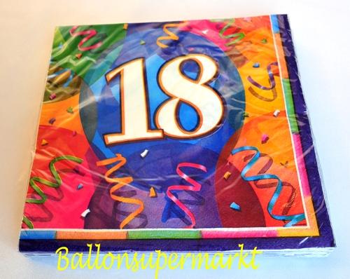 Geburtstagsservietten 18 Geburtstag Deko Servietten Geburtstags